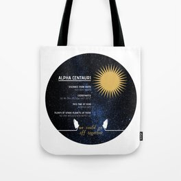 Alpha Centauri - Good Omens Fanart Tote Bag