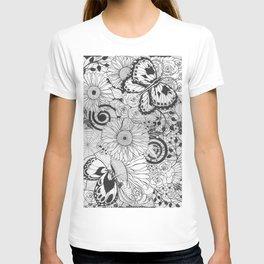 Flowers and butterflies T-shirt