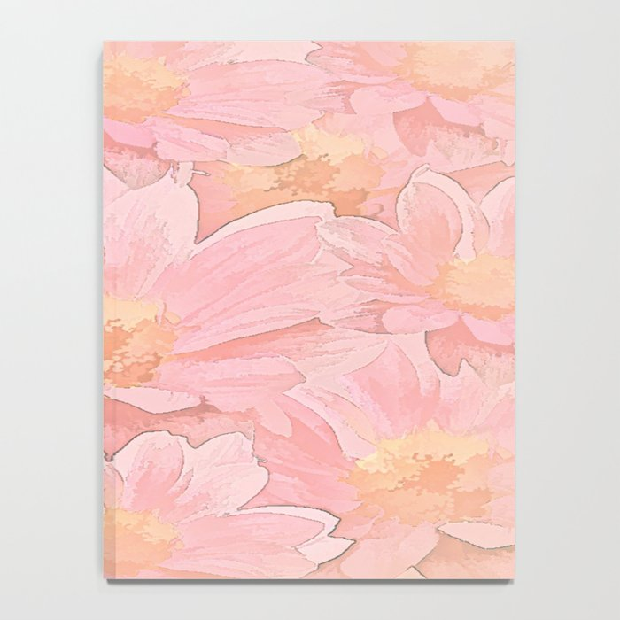 Pretty In Pink Painterly Floral Notebook