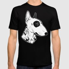 Bull Terrier dog Tattooed Black Mens Fitted Tee LARGE