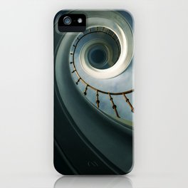 Pretty blue staircase iPhone Case