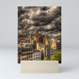 Storm over Montmartre with Sacre Coeur Mini Art Print