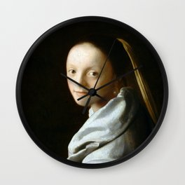 Johannes Vermeer - Portrait of a Young Woman Wall Clock