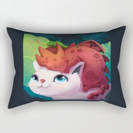 Tiny Sleeping Dragon Rectangular Pillow