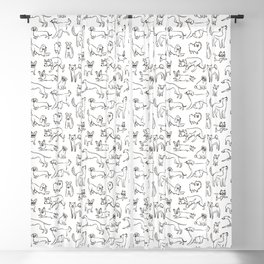 Dogs fun Blackout Curtain