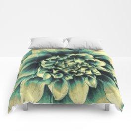 La Dahlia Blue Comforters