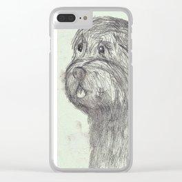 Scruffy Dog Clear iPhone Case