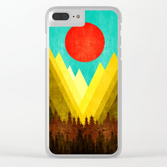 Mountains XVI Clear iPhone Case