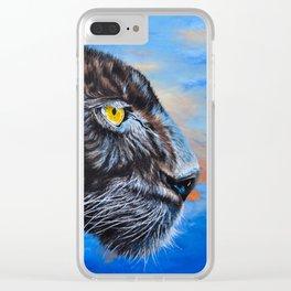 Black Leopard Clear iPhone Case