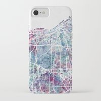 cleveland iPhone & iPod Cases featuring Cleveland map by MapMapMaps.Watercolors