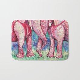 pink elephants Bath Mat