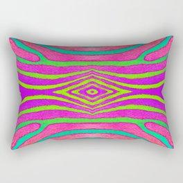 Neon Zebra Pattern Rectangular Pillow