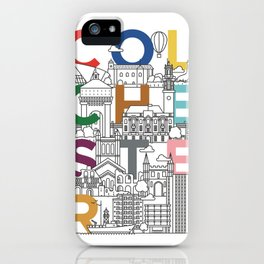 Colchester Town - Typoline Cities iPhone Case
