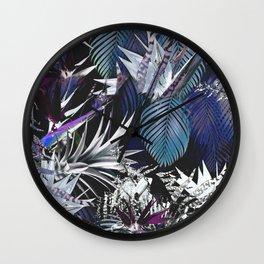 Silver jungle Wall Clock