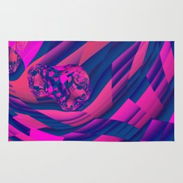 Creating Worlds – Abstract Magenta & Sapphire Magic Rug