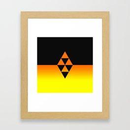 Legend Of Zelda Triforce Framed Art Print