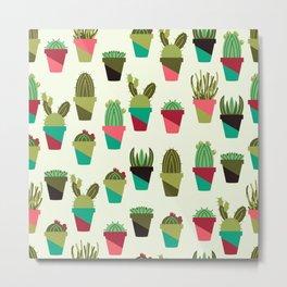 Succulents in Pots Metal Print