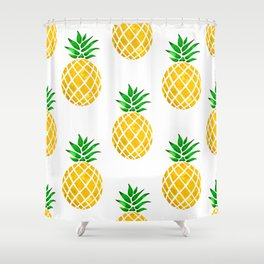 Beautiful Pineapple Pattern Shower Curtain