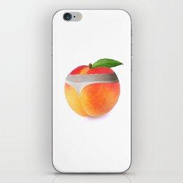 Peach booty iPhone Skin