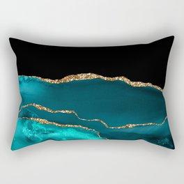 Beautiful Teal Desert Pattern Rectangular Pillow