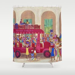 African American Masterpiece 'Haitian Camion' by Ellis Wilson Shower Curtain