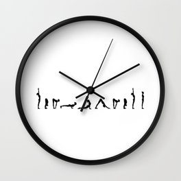 Surya Namaskara in Noir Wall Clock