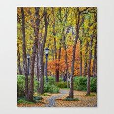 Walking into Autumn Canvas Print