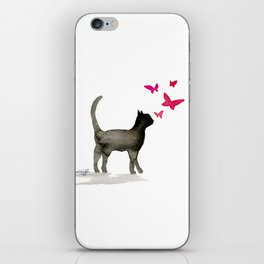 I Love Cats No. 3a by Kathy Morton Stanion iPhone Skin