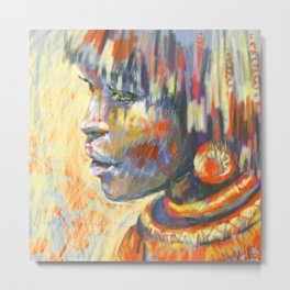 sunny portrait, ethnic girl Metal Print