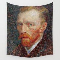 van gogh Wall Tapestries featuring Van Gogh 1887 by Palazzo Art Gallery