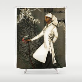 In His Headwrap Shower Curtain