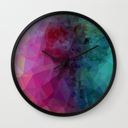 Geometric Pink/Blue Art Wall Clock