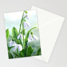 Teardrops in the Snow Stationery Cards