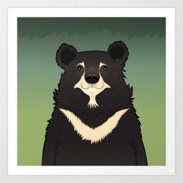 Jasper the moon bear Art Print