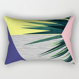 Geometric Leaves Rectangular Pillow