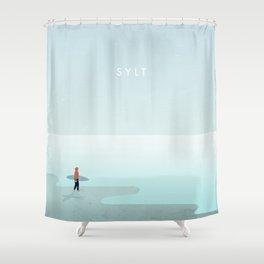 Surfer Sylt Shower Curtain