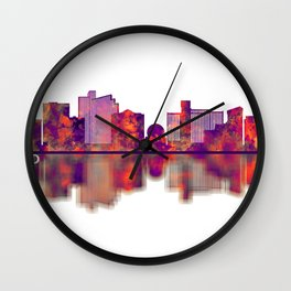 Reno Nevada Skyline Wall Clock