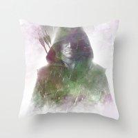 arrow Throw Pillows featuring Arrow by NKlein Design