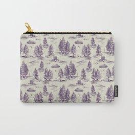 Purple Alien Abduction Toile De Jouy Pattern Carry-All Pouch
