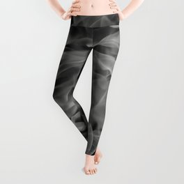Whispers - Black and white abstract Leggings