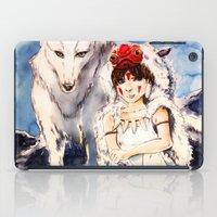 princess mononoke iPad Cases featuring Princess Mononoke by Tiffany Willis