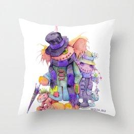 Helga Wojik: Welcome to Poogaton Throw Pillow