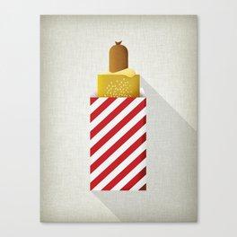 French Hotdog Canvas Print