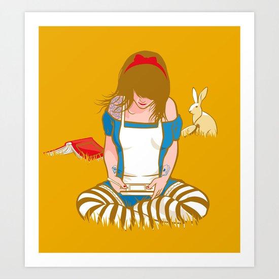 Alice in Mario Land Art Print