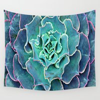 succulent Wall Tapestries featuring Succulent Succulent by BDillabough