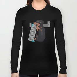 Attack of the Enormous Dachshund!!! Long Sleeve T-shirt