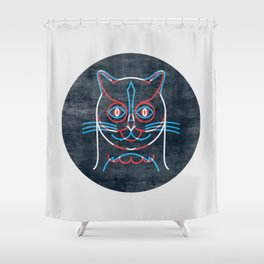 The Pussycat and The Owl Shower Curtain