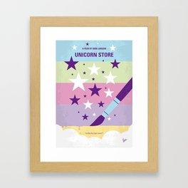 No1069 My Unicorn Store minimal movie poster Framed Art Print