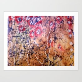 Red Lichen Art Print