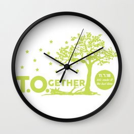 T.O.gether - Honoring Borderline Shooting Victims Wall Clock